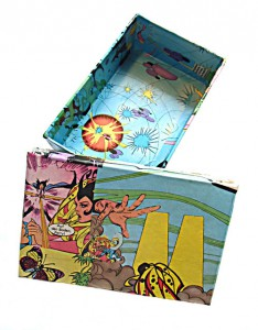 M  16,5 x 10,8 x 5 cm, Papierschachtel, Collage 2008
