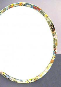 Spiegel  50 cm ∅, Collagemontage 2008
