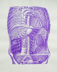 Körperaquarium  59,4 x 84 cm, Siebdruck 2012