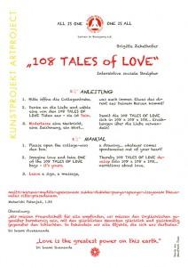"""108 tales of love""  Interaktive soziale Plastik Anleitung, 9. Yogafestival Berlin 2012"