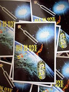 All is one  10,5 x 14,8 cm, Postkarte, 9. Yogafestival Berlin 2012