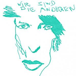 Wir sind die, auf die wir gewartet haben  7 x 7 cm, Zeichnung 1999