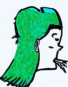 Entwurf  11 x 14,4 cm, Zeichnung 2004