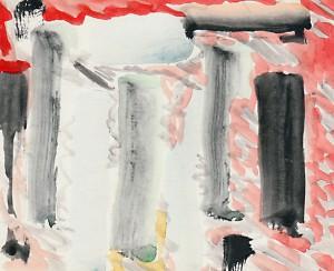 Paintings I 14,2 x 11,8 cm, Farbe auf Karton 1988