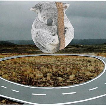 Kreisverkehr 21 x 14,4 cm, Collage 2013