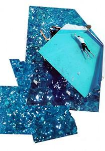 Deep blue  29,5 x 41,8 cm, Collage 2006