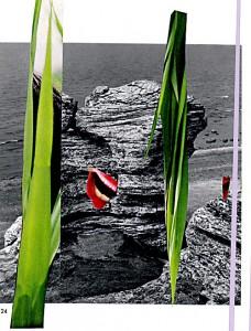 Der lachende Fels  17,7 x 23,4 cm, Collage 2007