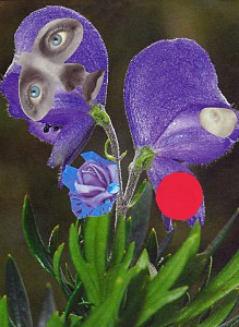Die Göttin  10,3 x 14,3 cm, Collage 2007
