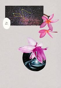 Sternenkunde  20,9 x 29,7 cm, Collage 2012