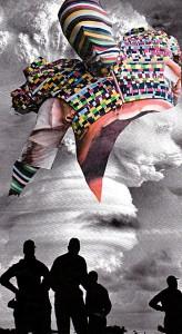 T-Raum  10,5 x 18,8 cm, Collage 2012