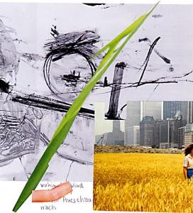 Urbane Architektur  22,5 x 18 cm, Collage 2006