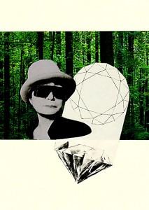 Yoko Ono  14,6 x 20,9 cm Collage 2012