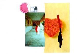 Menschlich  41,6 x 29,4 cm, Collage 2010