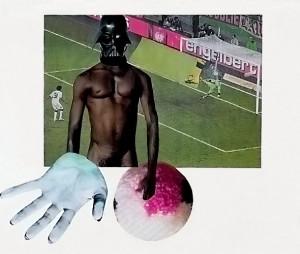 Runder Ball  25,8 x 27 cm, Collage 2012