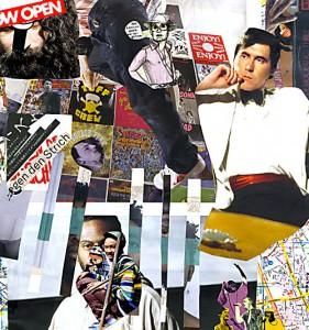 Zu Dir oder zu mir?  31 x 31,6 cm, Collage 2011
