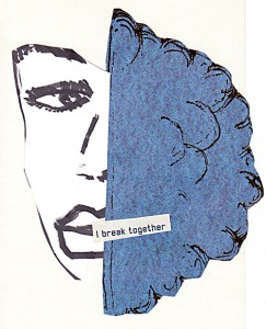 Together breaken  10,6 x 14,8 cm, Collage 2006