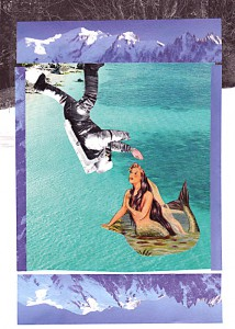 Wassermann  12,6 x 17,3 cm, Collage 2010
