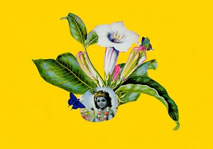 Baby Krishna  29,6 x 21 cm, Collage 2011